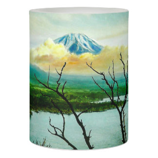 Mt. Fuji 富士山 Through the Pines Vintage Japanese Flameless Candle
