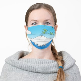 Mt Fuji Adult Cloth Face Mask