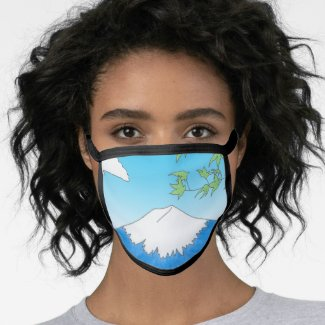 Mt Fuji - All Over Cotton & Poly Blend Facemask Face Mask