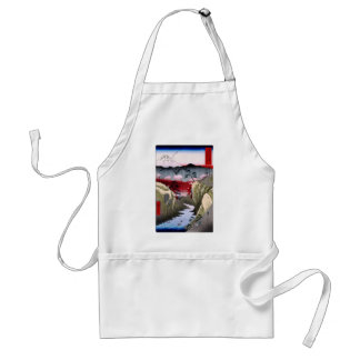 Mt. Fuji and Birds in Japan circa 1800s Adult Apron