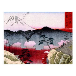 Mt. Fuji and Birds in Japan circa 1800s Postcard