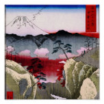 Mt. Fuji and Birds in Japan circa 1800s Poster