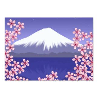 Mt. Fuji and Sakura Blossoms Card