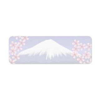 Mt. Fuji and Sakura Blossoms Label