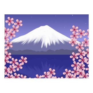 Mt. Fuji and Sakura Blossoms Postcard