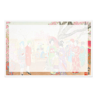 Mt Fuji and the Cherry Blossoms on Asuka Hill art Stationery