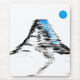 Mt Fuji Blue Moon Mouse Pad