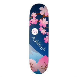Mt Fuji Cherry Blossoms Spring Japan Night Sakura Skateboard Deck