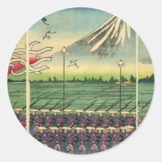 Mt. Fuji circa 1860's Classic Round Sticker