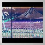 Mt. Fuji circa 1860's (with Modified Colors) Print