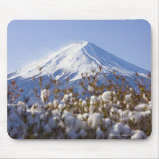 Mt. Fuji covered with snow Mouse Pad