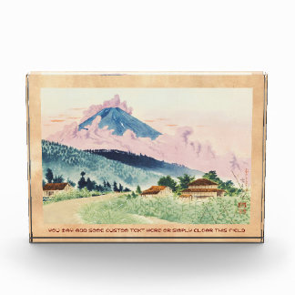 Mt Fuji de la acuarela oriental del camino de Kosh