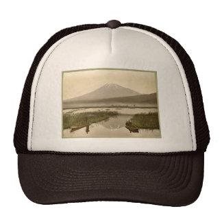 Mt Fuji from Kashiwabara Vintage Photograph Hats