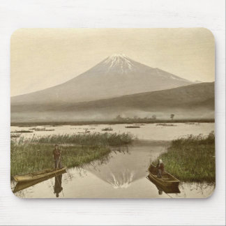 Mt Fuji from Kashiwabara Vintage Photograph Mouse Pad