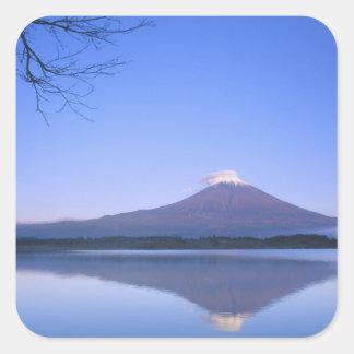 Mt. Fuji from Motosu Lake, Yamanashi, Japan Square Sticker