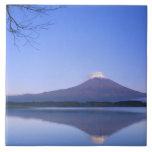 Mt. Fuji from Motosu Lake, Yamanashi, Japan Tile