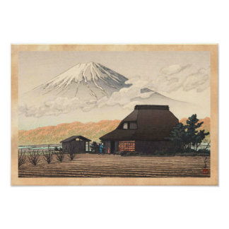 Mt. Fuji from Narusawa Hasui Kawase shin hanga art Poster