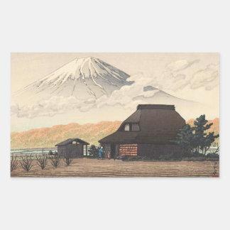 Mt. Fuji from Narusawa Hasui Kawase shin hanga art Rectangular Sticker