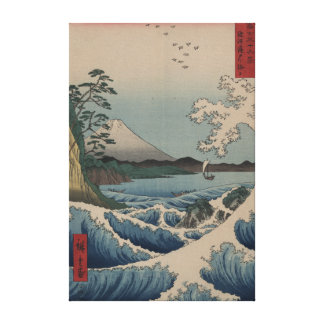 Mt. Fuji from Satta Point in the Suruga Bay Stretched Canvas Print