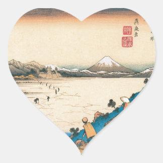 MT. FUJI HEART STICKER