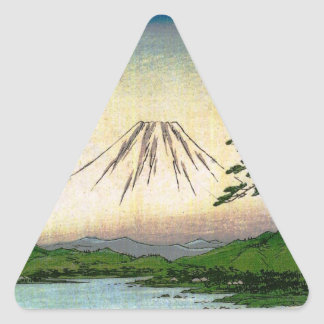 Mt. Fuji in Japan circa 1800's Triangle Sticker