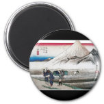 Mt. Fuji in the Morning, Japan circa 1831-1834 2 Inch Round Magnet