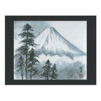 Mt Fuji Ink Painting Postcard