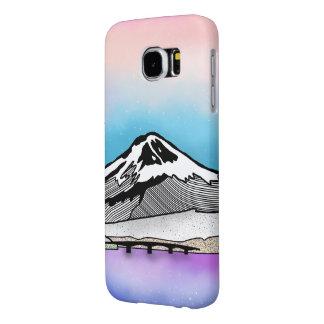 Mt Fuji Japan Landscape illustration Samsung Galaxy S6 Case