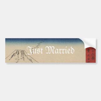 Mt. Fuji Japanese Vintage Art Wedding Invitation Bumper Sticker
