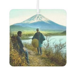 Mt. Fuji Pilgrims Resting by Roadside Vintage Air Freshener
