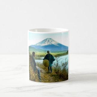 Mt. Fuji Pilgrims Resting by Roadside Vintage Coffee Mug