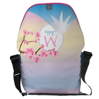 Mt Fuji Plum Blossoms Spring Japanese Umenohana Courier Bag