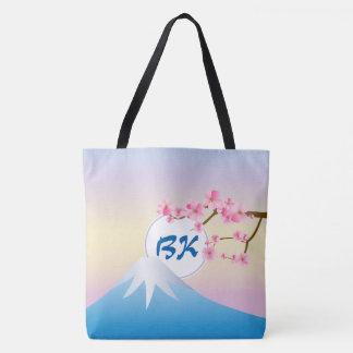 Mt Fuji Plum Blossoms Spring Japanese Umenohana Tote Bag