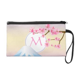 Mt Fuji Plum Blossoms Spring Japanese Umenohana Wristlet Purse