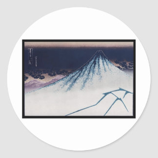 Mt. Fuji, Poster of Japanese painting c. 1830-1832 Classic Round Sticker