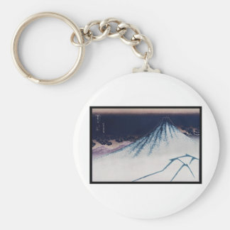 Mt. Fuji, Poster of Japanese painting c. 1830-1832 Keychain