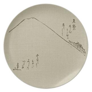 Mt. Fuji Sumi-e Plate