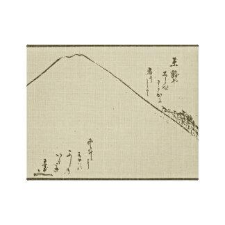 Mt. Fuji Sumi-e  -  Wrapped Canvas Stretched Canvas Print