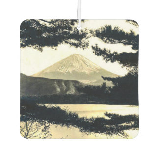 Mt. Fuji Through the Pines Vintage 富士山  Japanese Air Freshener