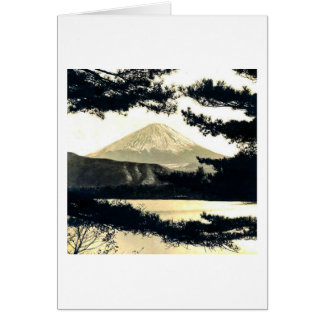 Mt. Fuji Through the Pines Vintage 富士山  Japanese Card
