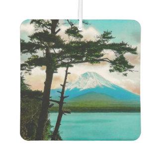 Mt. Fuji Through the Pines Vintage Japanese  富士山 Car Air Freshener