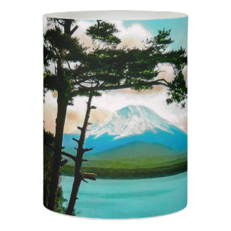 Mt. Fuji Through the Pines Vintage Japanese  富士山 Flameless Candle