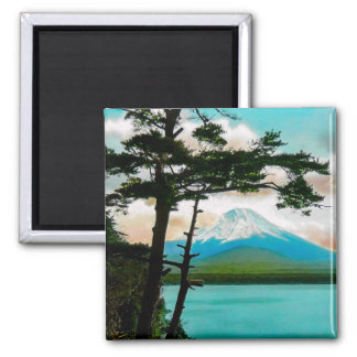 Mt. Fuji Through the Pines Vintage Japanese  富士山 Magnet