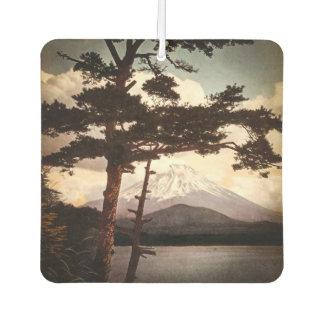 Mt. Fuji Through the Pines Vintage Old Japan Air Freshener