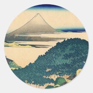 Mt. Fuji view 06 Classic Round Sticker