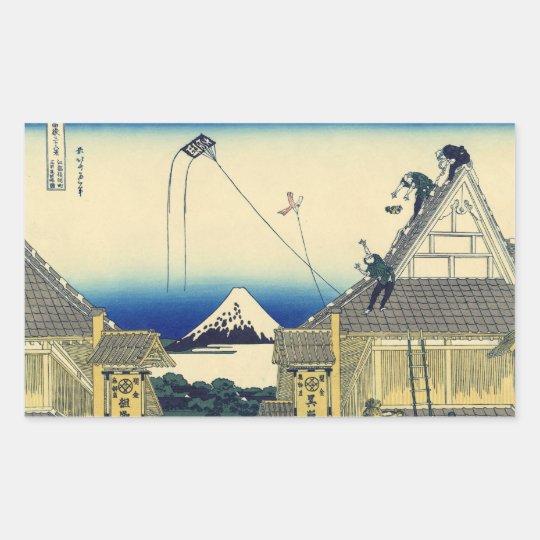 Mt. Fuji view 11 Rectangular Sticker