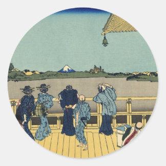Mt. Fuji view 13 Classic Round Sticker