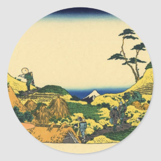 Mt. Fuji view 15 Classic Round Sticker