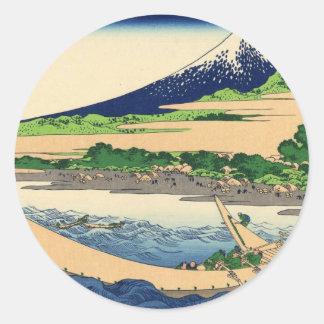 Mt. Fuji view 18 Classic Round Sticker