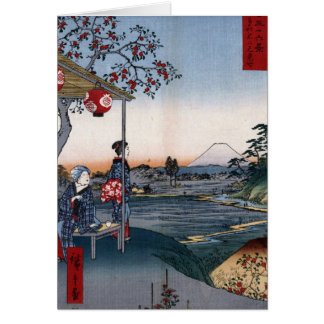 Mt. Fuji Viewed from a Teahouse c. 1800s Japan Card